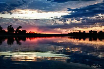 Photograph - Missouri River Sunset by Renee Sullivan