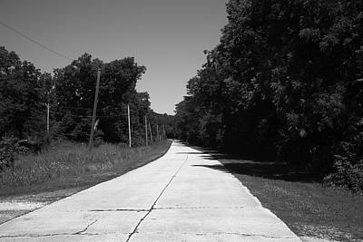 Photograph - Missouri Route 66 2012 Bw by Frank Romeo