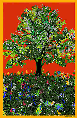 Katy Trail Digital Art - Missouri's Champion Burr Oak by Dennis Weiser