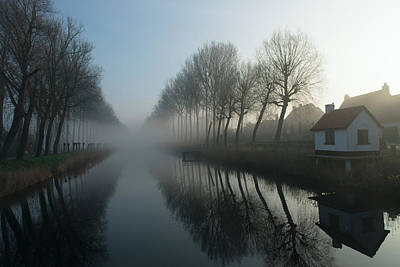 Mist Across The Canal Art Print