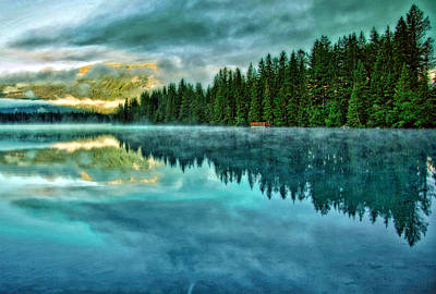Mist And Moods Of Lake Beauvert  Art Print by  Gregory McLemore