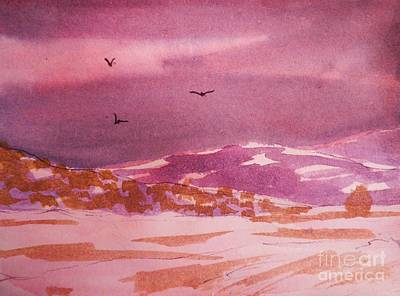 Painting - Mist And Snow by Suzanne McKay