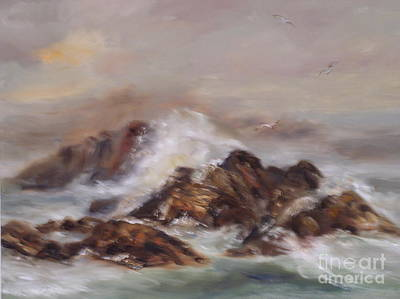 Painting - Mist And Waves by Alice Gunter
