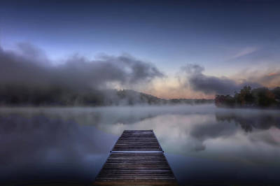 Mist At Lake Logan Art Print