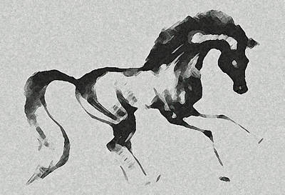 Wild Horse Drawing - Mist by Ellsbeth Page