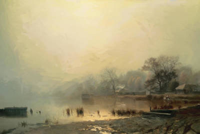 Painting - Mist In The Morning by Georgiana Romanovna