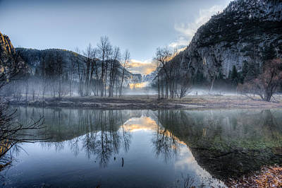 Photograph - Mist In The Valley by Mike Lee