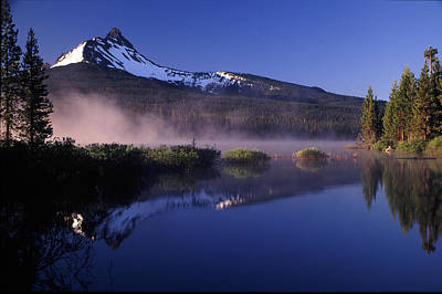 Mist Off Of Big Lake Art Print by Joe Klune