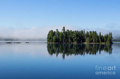 Photograph - Mist On Lake Of Two Rivers by Barbara McMahon