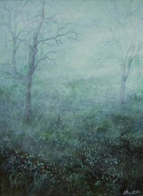 Painting - Mist On The Meadow by Mary Wolf