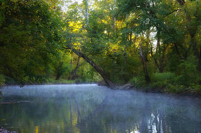 Mist On The Wissahickon Art Print by Bill Cannon