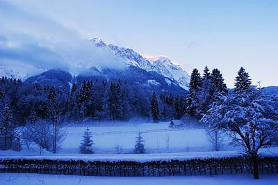 Photograph - Mist Over Alps by Misuk Jenkins