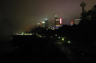 Photograph - Mist Over Niagra Falls Skyline Canadian Side by Gregory Scott