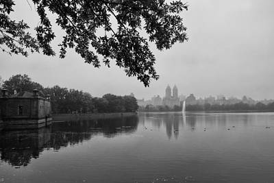 Photograph - Mist Over The Reservoir by Cornelis Verwaal