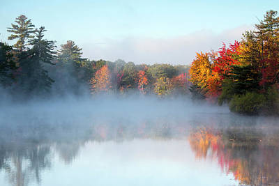 Photograph - Mist Rises Off The Water On An Autumn by Robbie George
