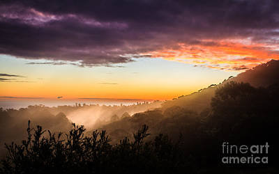 Mist Rising At Dusk Art Print