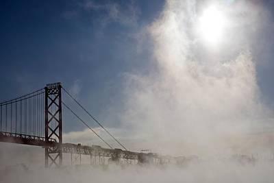 Mist-shrouded Bridge Art Print