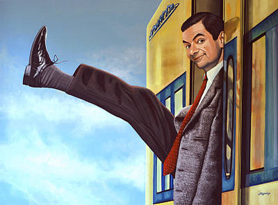 Clock Painting - Mister Bean by Paul Meijering