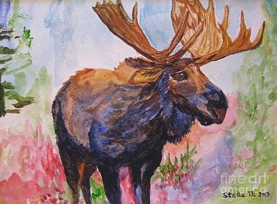 Painting - Mister Moose by Stella Sherman