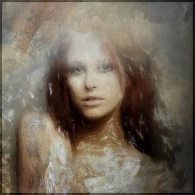 Redhead Digital Art - Mistical Woman by Gun Legler