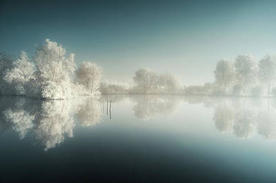Infrared Photograph - Mist'ir Light by David Keochkerian