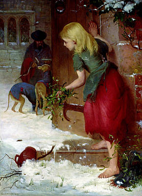 Female Spy Painting - Mistletoe Seller by Samuel Edmund Waller