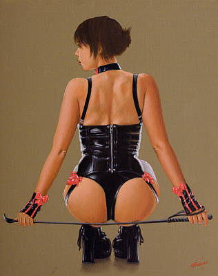 Female Masturbation Painting - Mistress I by John Silver