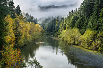 Photograph - Mists And Fall Color On The Eel River by Greg Nyquist