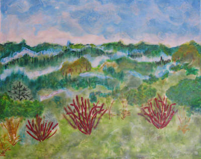 Wall Art - Painting - Mists Of Russian River by Jen Siegrist