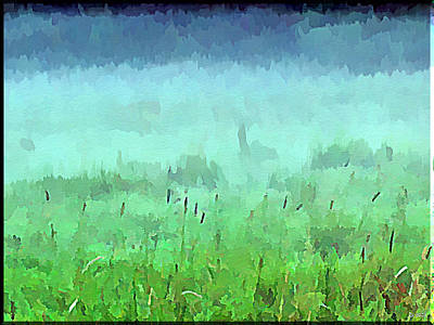 Misty Autumn Meadow Art Print