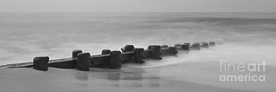 Photograph - Misty Beach Morning - Panoramic Version by Mark Miller