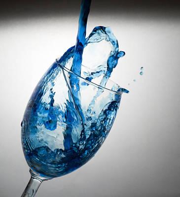 Misty Blue Art Print by John Hoey