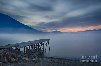 Lake Pend Oreille Photograph - Misty Blue Twilight by Idaho Scenic Images Linda Lantzy