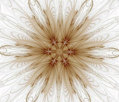 Misty Brown Mandala Art Print