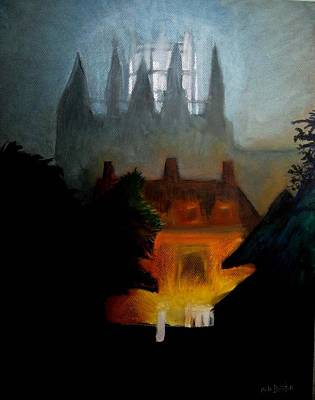 Misty Castle Art Print