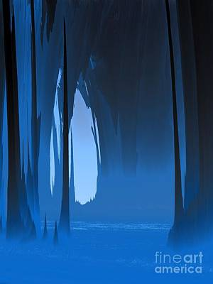 Cavern Digital Art - Misty Cavern by Lyle Hatch