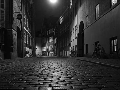 Misty Copenhagen Night Art Print by Inge Riis McDonald
