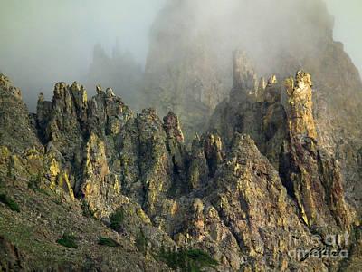 Misty Crags Art Print