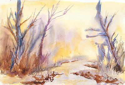 Painting - Misty Creek by Walt Brodis