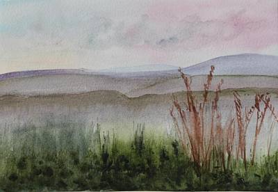 Plein Air Painting - Misty Day In Nek by Donna Walsh