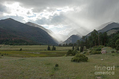 Photograph - Misty Evening At Horseshoe Park In Rocky Mountain National Park by Fred Stearns