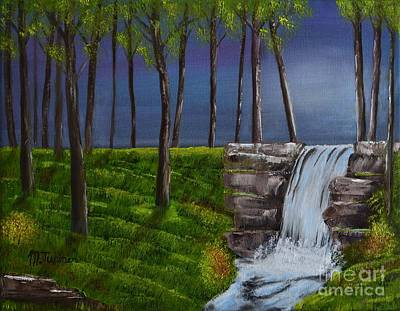 Painting - Serenity Falls by Melvin Turner