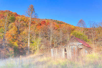 Photograph - Misty Fall Morning In The Valley - North Georgia by Mark E Tisdale