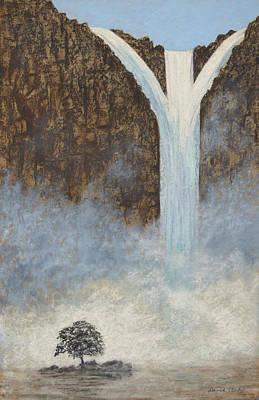 Pastel - Misty Falls by David Clode