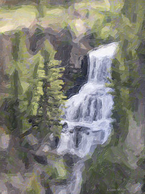 Misty Falls Art Print by Jo-Anne Gazo-McKim