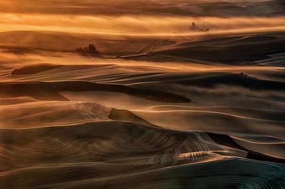 Dirt Photograph - Misty Farmland by Lydia Jacobs