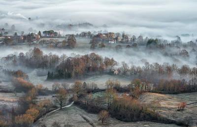 Winter Roads Photograph - Misty Fields by Riccardo Lucidi