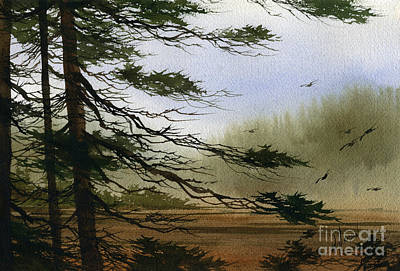 Fog Painting - Misty Forest Bay by James Williamson
