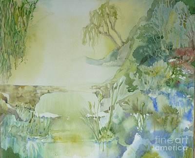 Painting - Misty Garden by Donna Acheson-Juillet