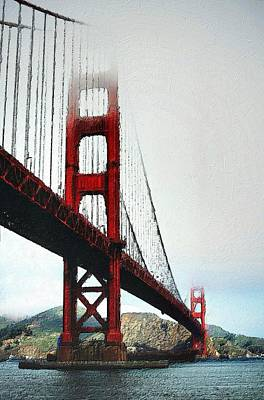 Painting - Misty Golden Gate by Florian Rodarte